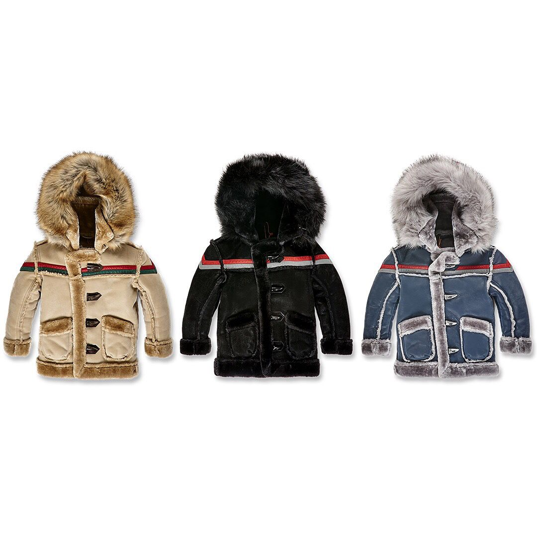 """c1a0ae3ae1570d Kids Streetwear Brand on Instagram  """"New releases are now available  including our Kids Tuscany Striped Shearling Jacket   Kids Denali Shearling  Jacket"""