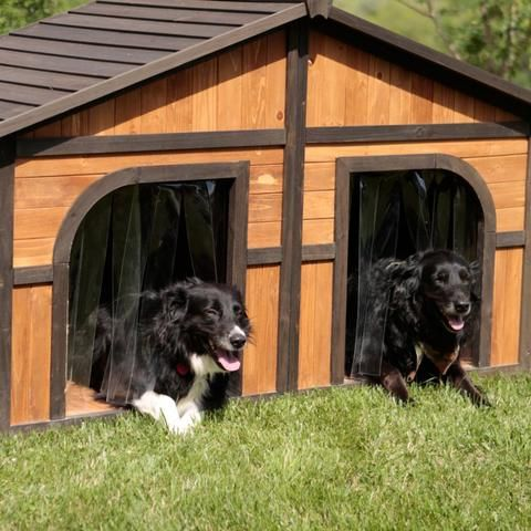 Dog House Cottage With Ac Outer Cage Dog House Dog House For