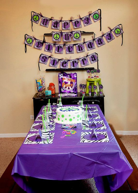 Great tween peacezebra party for our girl big girl stuff