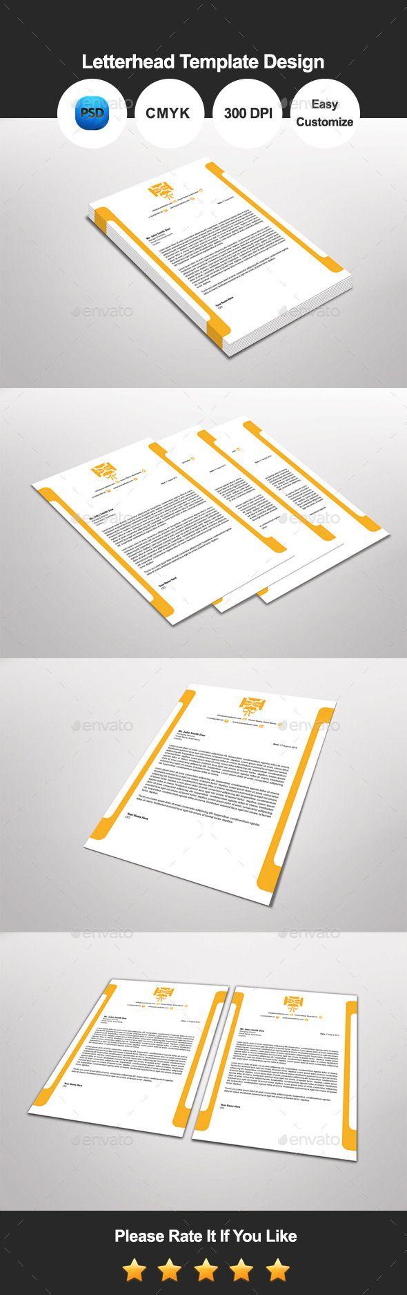 Rando letterhead template design letterhead template font logo rando letterhead template design photoshop psd letter pad modern available here spiritdancerdesigns Images