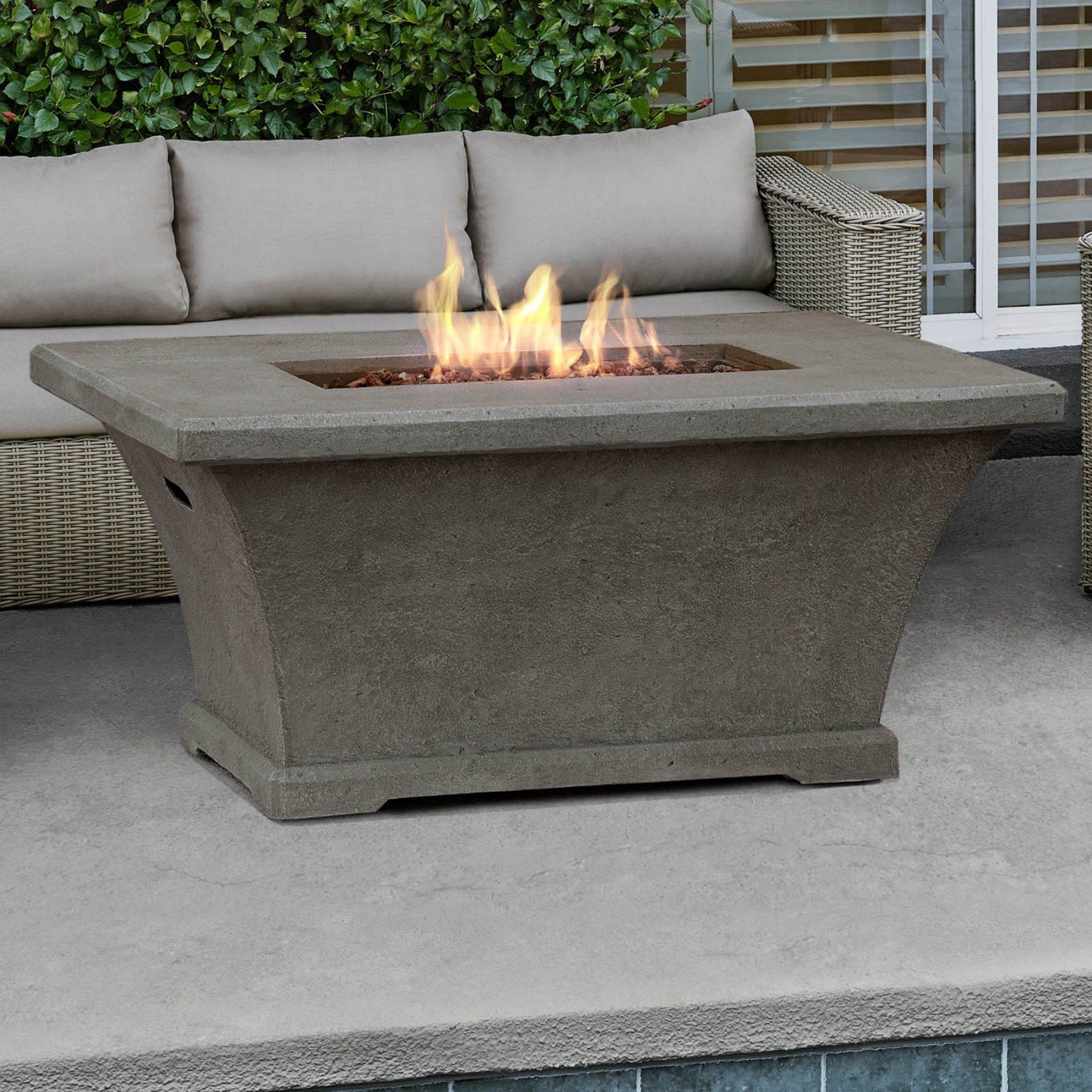 Real flame monaco rectangle chat height lp fire table lptglg