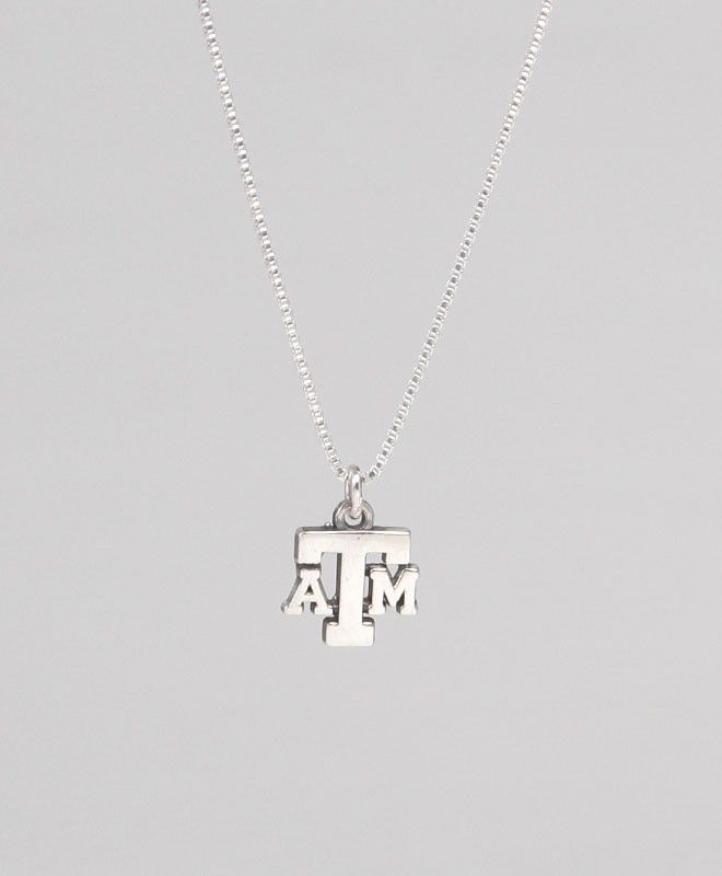 """18"""" ATM Sterling Silver Charm Necklace #AggieGifts #AggieStyle"""
