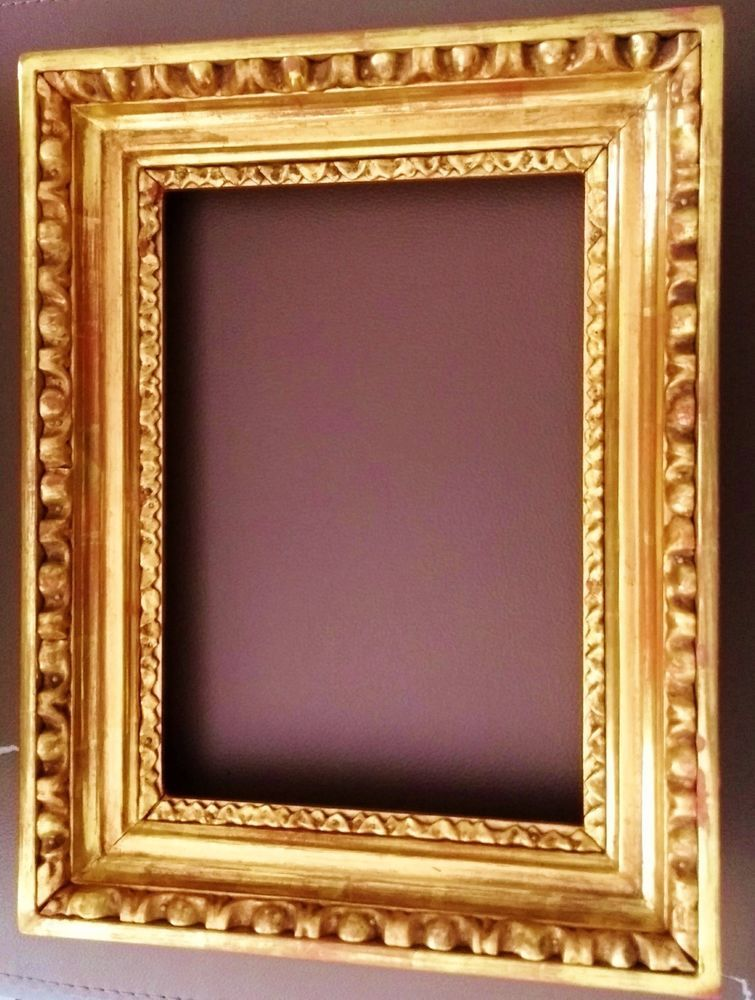 Details zu um 1800 Ochsenaugen Eierstab Gemälde Rahmen Frame Cornice ...