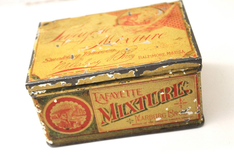 Antique Tobacco Tin, late 1800s - Marburg Bros, Baltimore, Md.