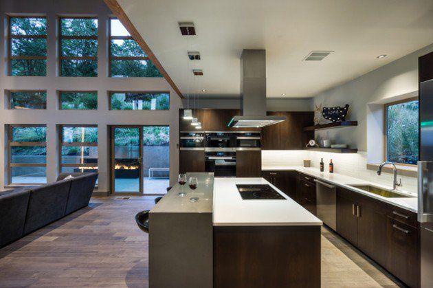 17 Beautiful Open Concept Kitchen Designs In Modern Style Cocina Concepto Abierto Concepto Abierto Casas Modernas De Lujo