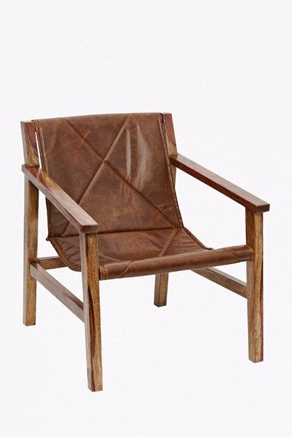 Leather Sling Back Chair Leather Chair Leather Sling Chair Cowhide Furniture