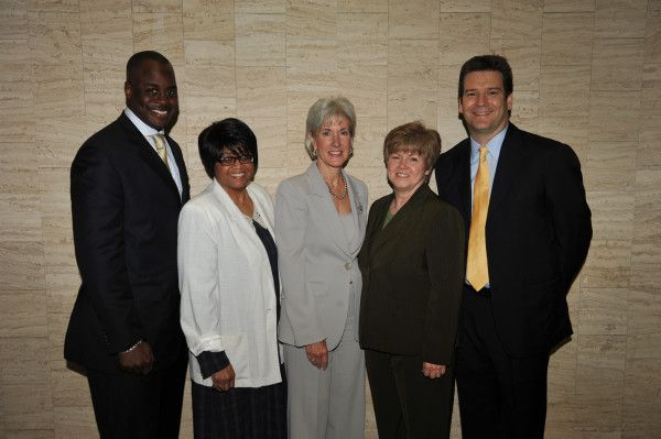 HHS Sec. Kathleen Sebelius with Andrew Levack (of our Gender Matters project) & reps from the Office of Adolescent Health! #wheresthefp