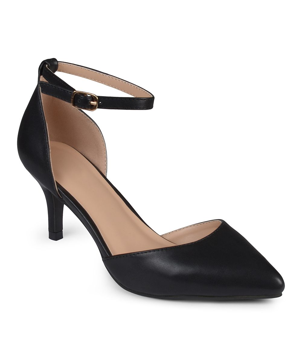 Black Ike D'Orsay Pump Ankle strap high heels, Black