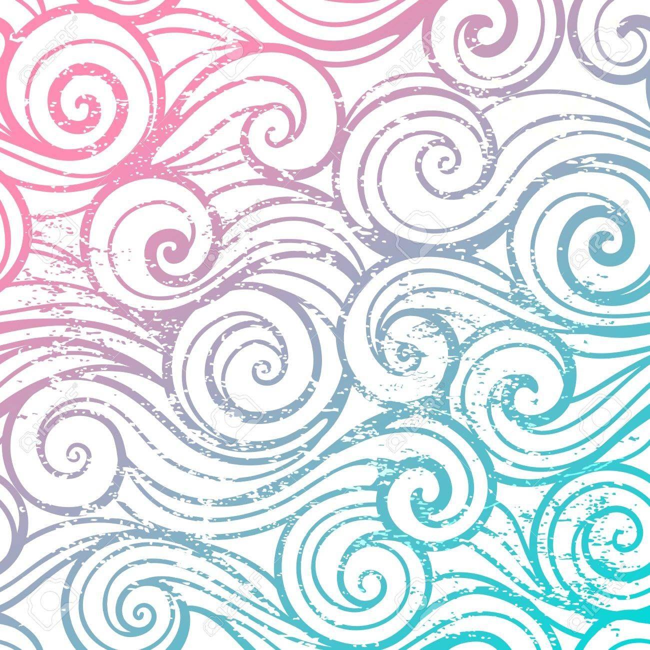Hermoso color abstracto patrón de onda vendimia Foto de archivo ...