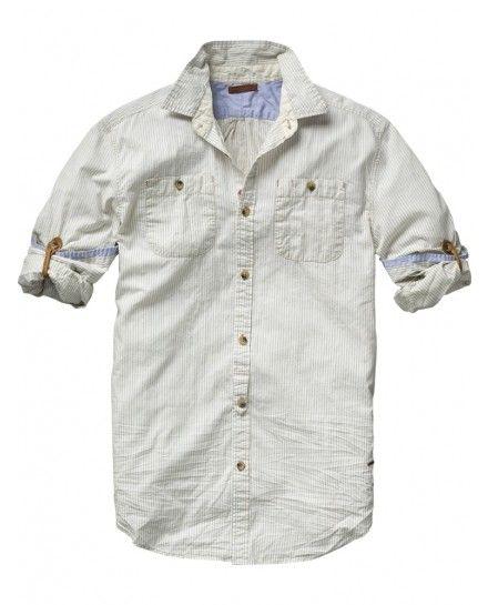 Scotch & Soda Long-sleeved Japanese styled shirt