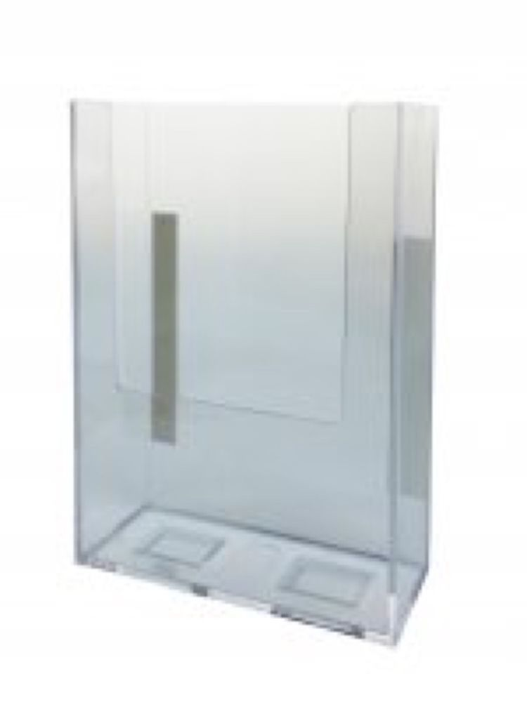 5 Booklet Display Wall Mount Brochure Holder For 5 W Literature Clear 6 Pack With Images Brochure Holders Clear Acrylic Wall Display