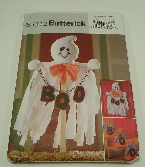 Butterick Ghost Halloween Decoration Pattern B4312 Decorative ...