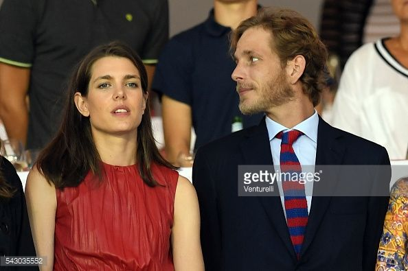 News Photo : Charlotte Casiraghi and Andrea Casiraghi attend...