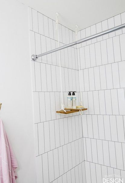 Hang A Swing Shelf In The Shower Or Anywhere Shower Shelves