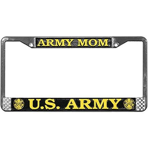 Army Mom Us Army License Plate Frame Chrome Metal License Plate Frames License Plate Plate Frames