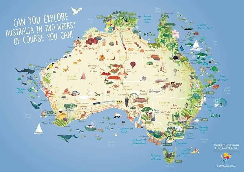 Carte Australie Canada.Australia Travel Time Australie Voyage Vivre En
