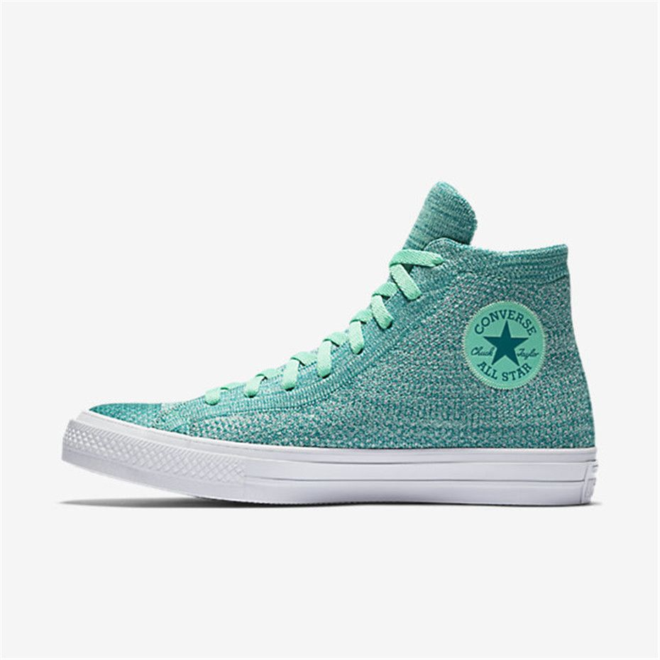 773489738ca4 NIKE Converse Chuck Taylor All Star x Nike Flyknit High Top (Green Glow)