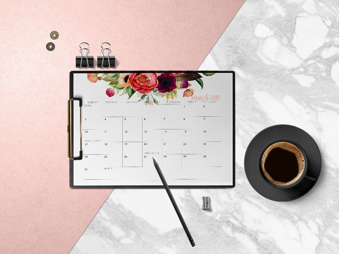 Printable Monthly Planner Pages Calendar Pages