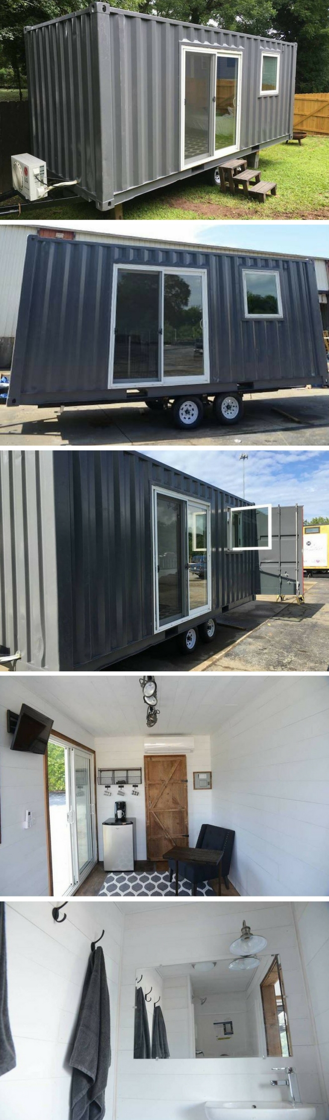 Best Kitchen Gallery: Atlanta Tiny Shipping Container House House Mini Fridge And Full Bath of Shipping Container Bath on rachelxblog.com