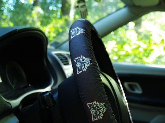 Wolfs steering wheel cover Car accessory Great gift for him or ...