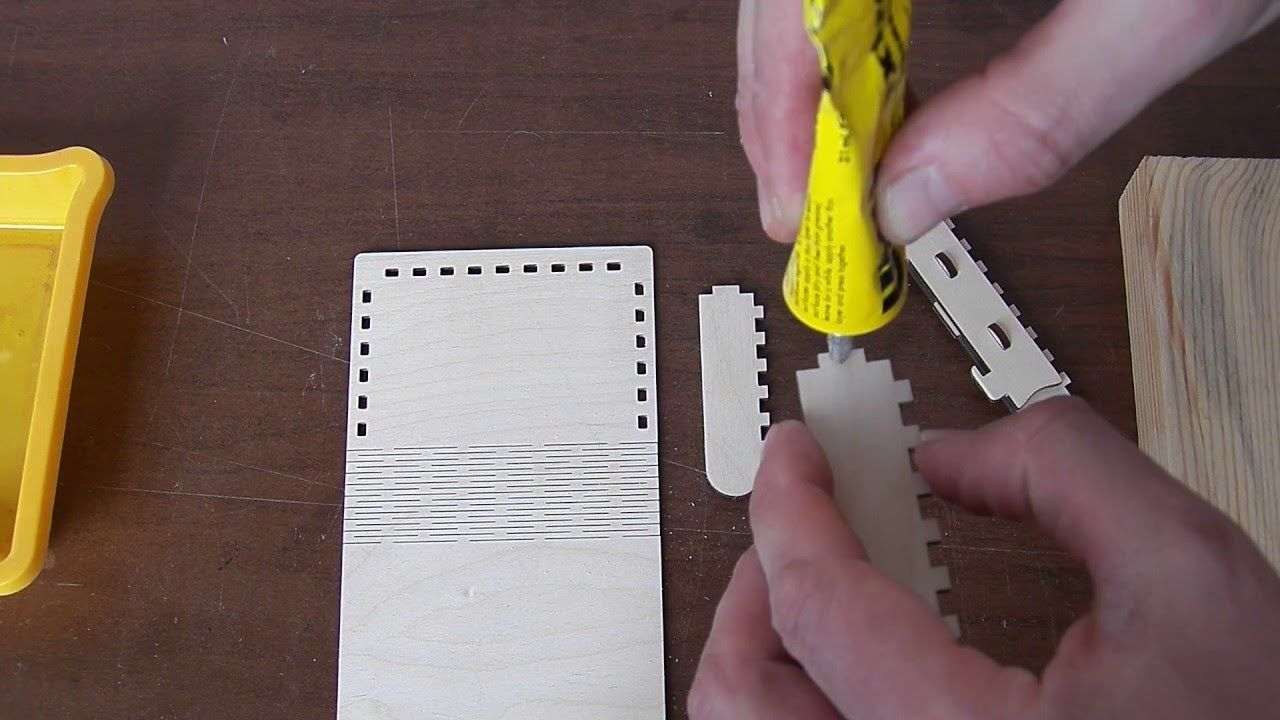 How to assemble Wooden BOX with sliding bolt latch http://cartonus ...