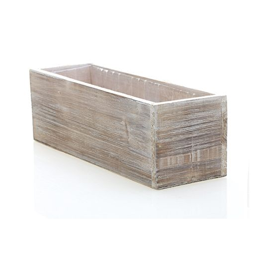 Whitewashed Woodland Fir Planter Perfect For A Beach Or A Backyard Wedding Fill With Colorful Hydrangeas For Wood Planters Wood Planter Box Floral Container