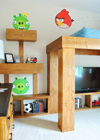 Loft bed and Angry Birds