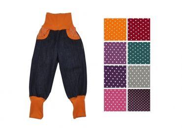"""Cooler Stoff - """"Danni"""" Jeans Pumphose mit Taschen"""