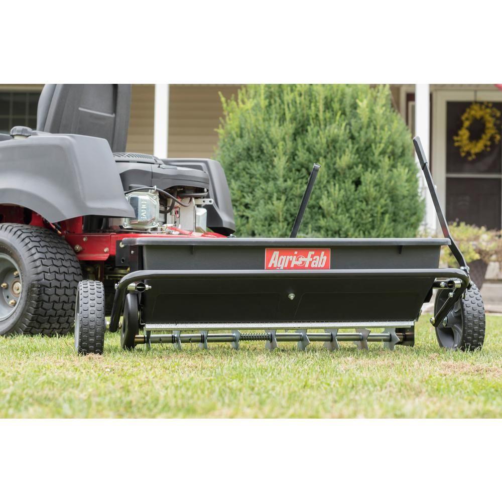100 Lbs 32 In Spiker Seeder Drop Spreader 45 0543 The Home Depot Lawn Repair Easy Turf Seeds