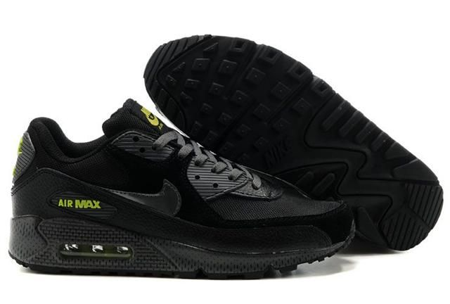 new product 694f0 4f48c Nike Air Max 90 Black Volt | Nike Air Max 90 | Air max 90 ...