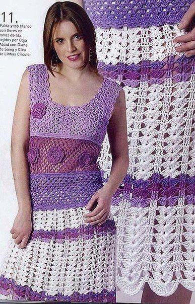 Delicadezas en crochet Gabriela: Falda y blusa en ganchillo incluye explicaciones