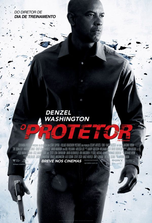 Poster Nacional Do Filme O Protetor Com Denzel Washington