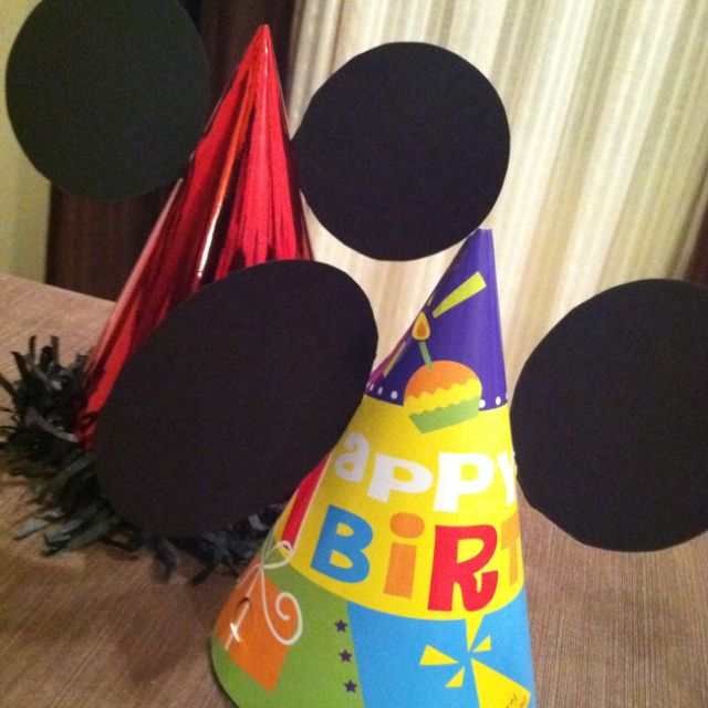DIY Mickey Mouse Clubhouse Party Hats!