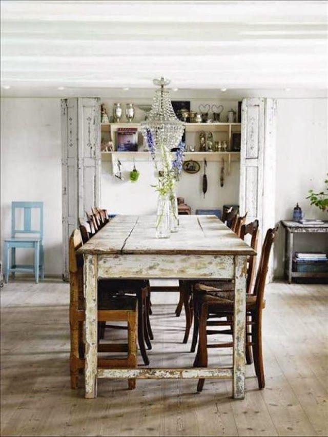 mesa comedor shabby chic | Muebles rusticos | Pinterest | Barn ...