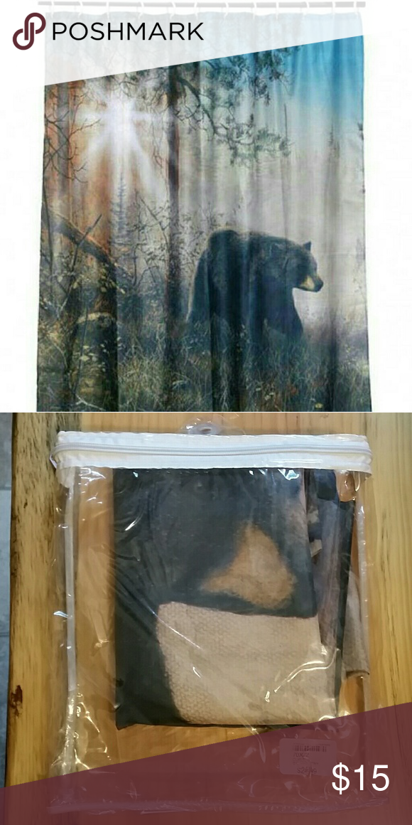 Bear Necessities Northwoods Shower Curtain With Images Bear