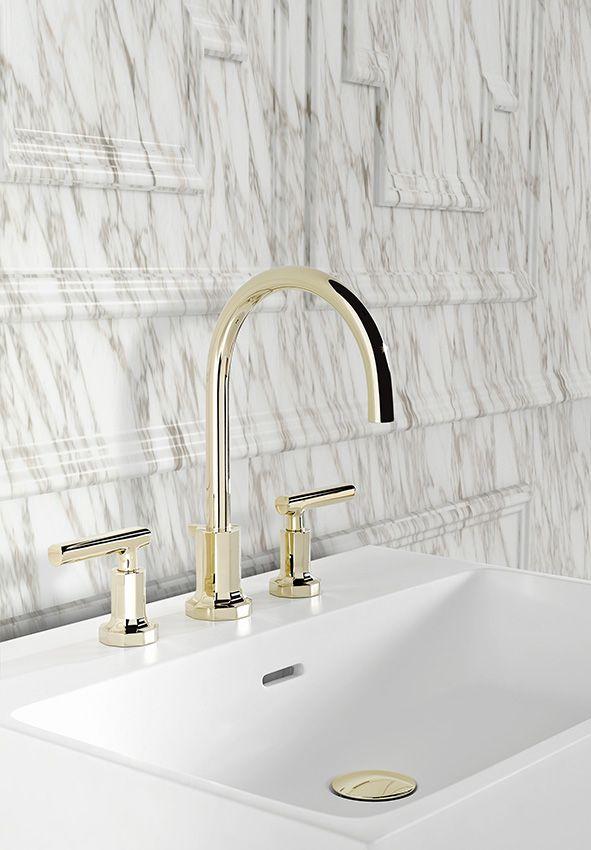Salle de bains  tendances  styles Vasques  Robinets Pinterest