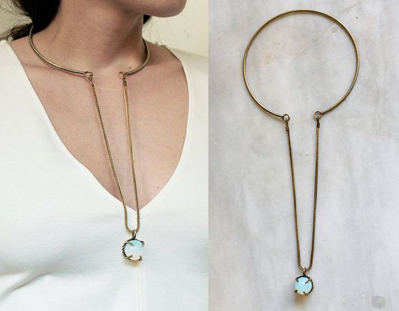Opalite choker necklace