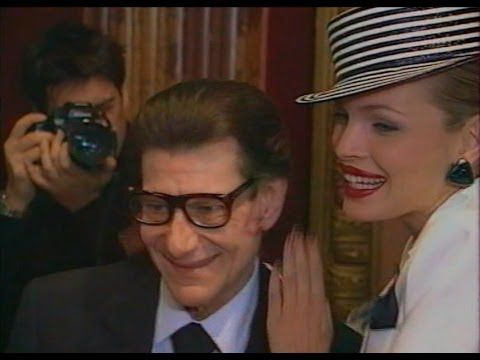 Supermodels Laetitia Casta and Esther Canadas in a Backstage Yves Saint Laurent 1999 - YouTube