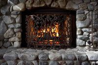How To Clean Soot From A Stone Fireplace Ehow Rock Fireplaces Cleaning Stone Stone Fireplace
