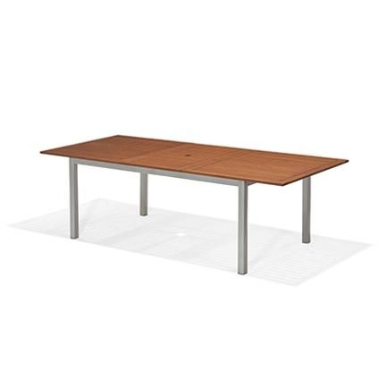 table de jardin extensible central park ibis rectangulaire bois brico 359 outdoor design