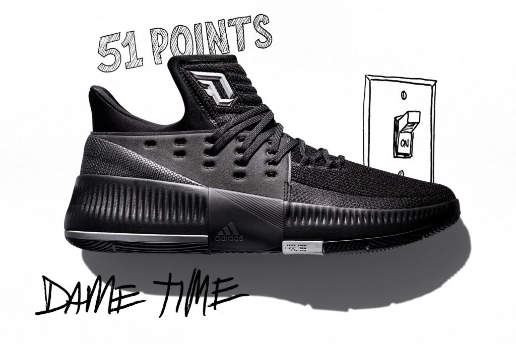 uk availability ea7d2 0f102 adidas Dame 3 Lights Out