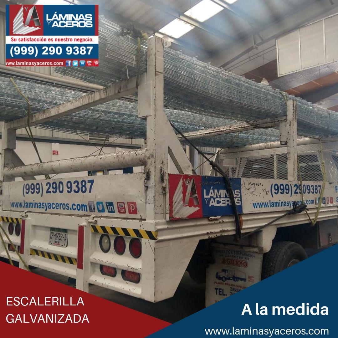 Escalerilla Galvanizada, disponible en Láminas y Aceros.