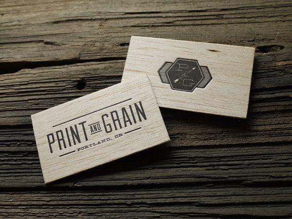 Custom letterpress wood business card and graphic by printandgrain items similar to custom letterpress wood business card and graphic design package 100qty on etsy colourmoves Gallery