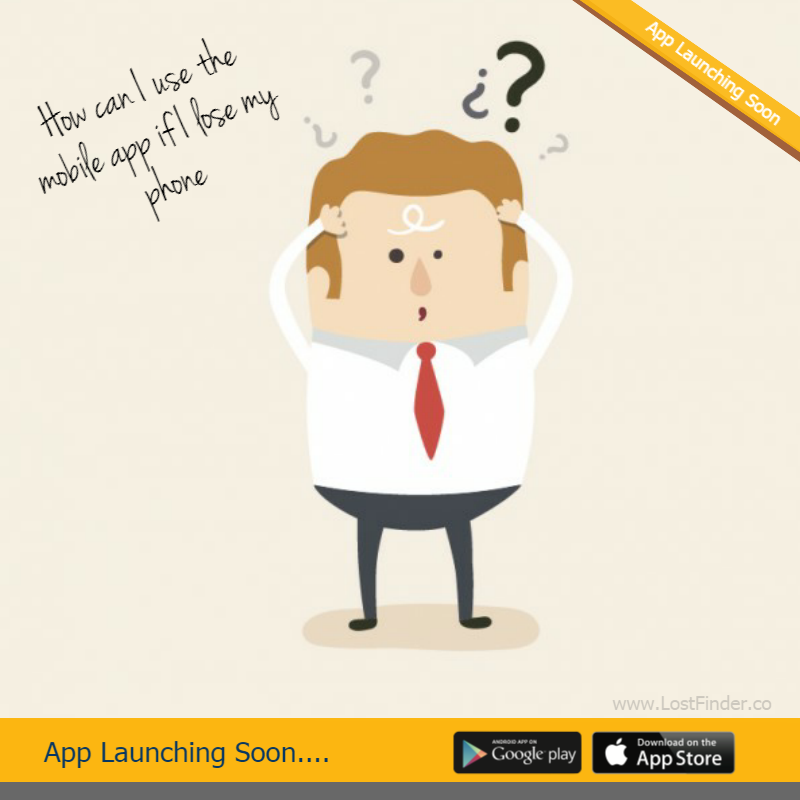 """How can I use the mobile app if I lose my phone""- J Tricky! We suggest asking your friends help by asking them to add a listing in the Lostfinder app on behalf of you. We are working on desktop website (still in development) which you can use as well once it's live. For more details visit our website: http://lostfinder.co/ #Lost #Found #LostFinder"