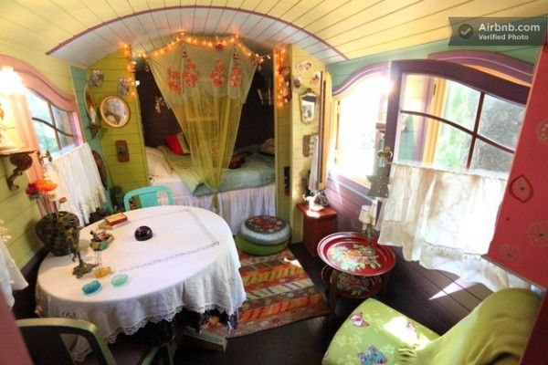 colorful gypsy wagon in lyon france tiny houses cabins cottages pinterest lyon france. Black Bedroom Furniture Sets. Home Design Ideas
