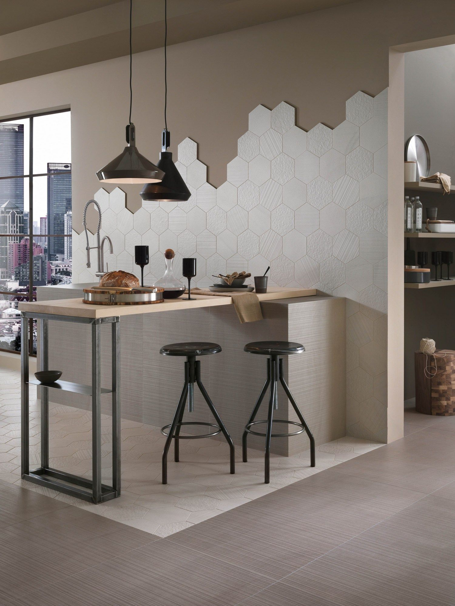 Full body porcelain stoneware wall tiles with stone effect SANDS EXPERIENCE White Sand Experience Collection By Italgraniti