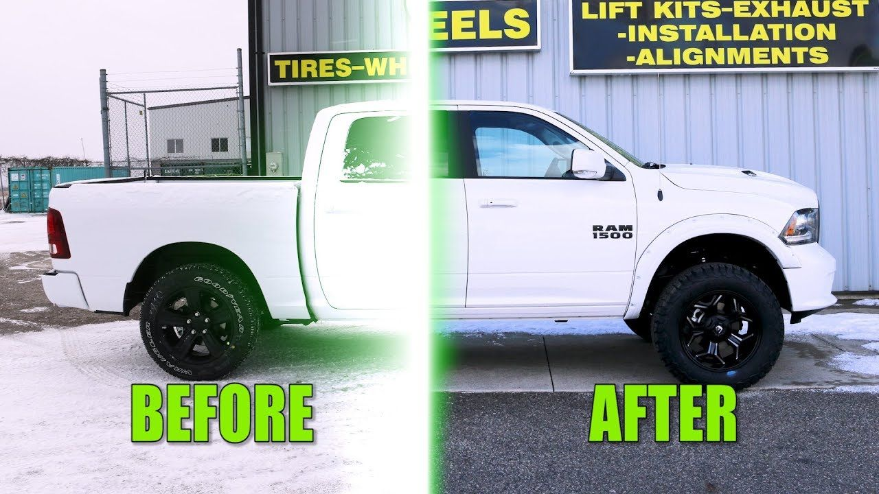 Custom 2018 Dodge Ram 1500 Before And After Modifications Area