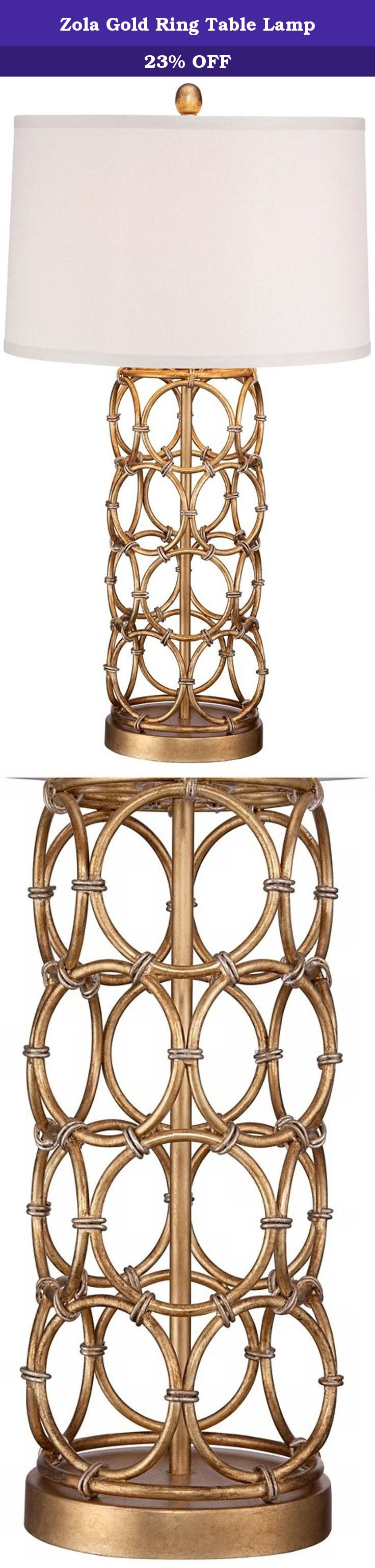 Zola Gold Ring Table Lamp Chic and Bright This Table Lamp Easily