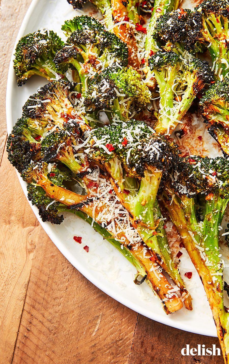 Photo of Grilled Broccoli #grillingrecipes Parm, honey, and garlic make broccoli infinite…