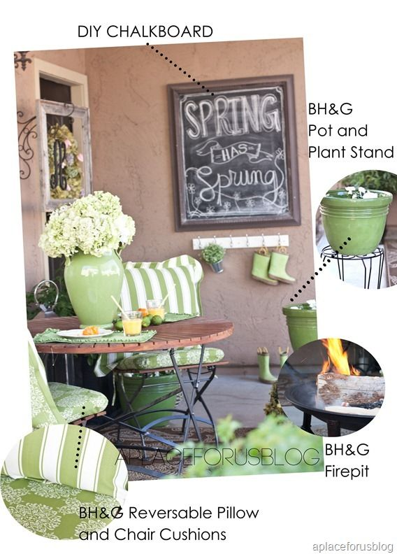 Better homes and Garden Patio from @aplaceforus
